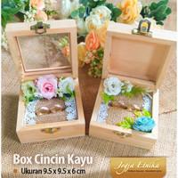Kotak Cincin Kayu / Ring box / Box Cincin / Mahar Kayu