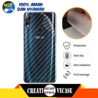 Garskin Carbon Asus Zenfone Max Pro M2 Back Screen Sticker Skin Guard