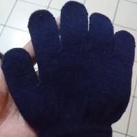 Sarung Tangan Anak Rajut Polos - Hitam