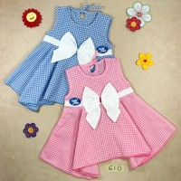 Dress Bayi Katun All Size Model Pita