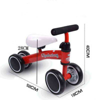 Sepeda anak latihan keseimbangan anak red