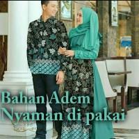 Gamis batik couple cp alazka 4 warna Baju batik couple murah