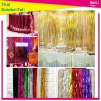Backdrop   Banner Rumbai   Tirai Foil   Curtain Foil 2 meter