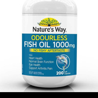 Natures way Odourless fish oil 1000mg isi 200caps