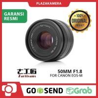 Lensa 7Artisans 50mm F1.8 For Canon EOS-M – Black