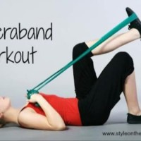Theraband Exercise / Karet Pilates Senam Yoga 0.45mm - Medium