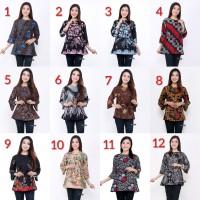 Batik Baju Blouse Atasan Wanita 12 Motif Pilihan Seragam Serut BLLB