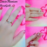 cincin permata berlian putih titanium