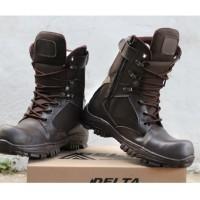 Sepatu pria Boots Dlta CHEAP TINGGI ujung besi