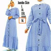 JUMBO 5L - LD 140 ALPINA KANCING AKTIF DRESS GAMIS BIGSIZE