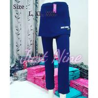 Celana Senam Rok Wanita / CBR Wanita / Celana Rok Olahraga Wanita navy - L