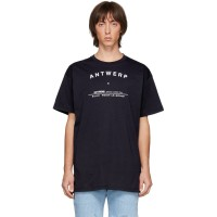 Raf Simons Navy Tour Antwerp T-Shirt