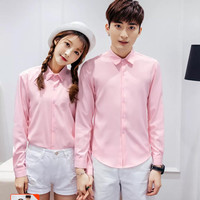 kemeja couple polos pink / kemeja pasangan formal / kemeja nikah