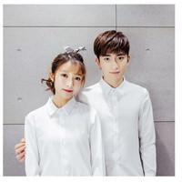 kemeja couple polos putih / kemeja pasangan formal / kemeja nikah
