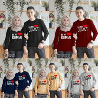 sweater couple romeo juliet / baju pasangan / baju couple