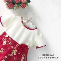 [4-5-6] Dress Baju Anak Perempuan Kualitas Export DO. 212-2 - Merah, 5