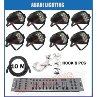 PROMO PAKET LIGHTING PARLED 54 RGBWO MIXER DMX 192 HOOK PARLED DAN