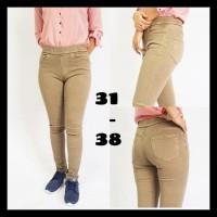 Celana Jeans Legging Wanita Jumbo 31-34 - Biru, 29