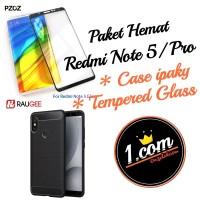 Redmi Note 5 Case & Antigores Kaca PAKET HEMAT