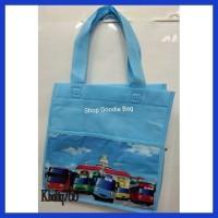 Ready Tas Spunbond Handle Box Motif Uk 25X25X18 Goodie Bag Tas Kain