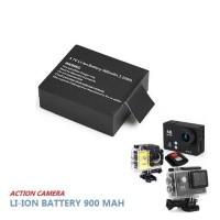 Batere Action Camera 3.7V Li-ion 900mAh/ Baterai Sports Cam