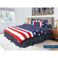 Bed Cover California - STAR & STRIPE - RUMBAI - 180x200 (King)