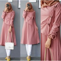 [Tunik Siva Dusty Pink SW]Tunik wanita soltice dusty pink