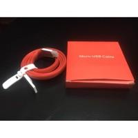 Kabel Cable Data One PLUS Micro USB Original Warna Merah
