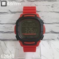jam tangan DIGITAL UNISEX RUBBER MURAH MERAH PUTIH DONGKER HITAM ABU