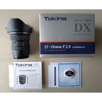 Lensa Tokina AT-X 11-16mm 11-16 mm f/2.8 f2.8 PRO DX II 2 CANON MripBr