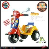 Mainan Anak Scooter SHP-609 Sepeda Roda Tiga Vespa Dorong Music