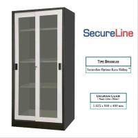 SECURE LINE LEMARI ARSIP 2 PINTU OPTIMA KACA SLIDING 1E05-SLO-31-004