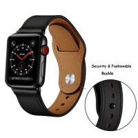 LEATHER KULIT STRAP TALI JAM IWATCH APPLE WATCH 1 2 3 4 5 42mm 44mm