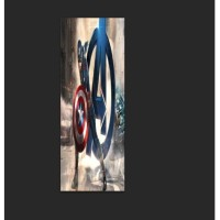 3D Wallpaper Pintu Door Sticker - Avengers
