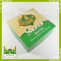 Box Lebaran 22x22 Idul Fitri / Box Packaging Kue / Cake Box / Dus Kue