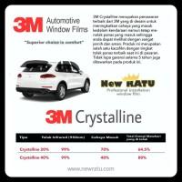 Kaca film 3M crystalline 40 dan 70 harga promo untuk kaca depan