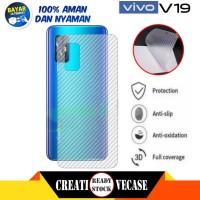 Garskin Carbon Vivo V19 2020 Back Screen Sticker Skin Guard