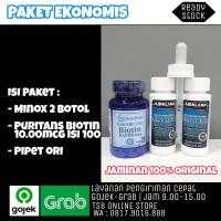 KIRKLAND MINOXIDIL 2 BTL PURITANS BIOTIN 10000mcg PIPED ORI PAKET