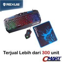 Rexus Warfaction VR1 Keyboard + Mouse + Mousepad Gaming Kit Combo Set