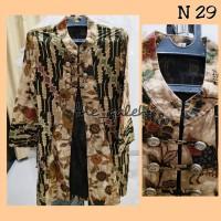 N29 Baju Dress Outer Cardigan Blazer Batik Bagus Murah