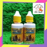 obat flu batuk bersin pilek kucing anjing kelinci Well Flu Batuk 30ml