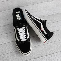 vans old skool pro black white original murah