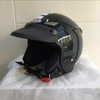 Helm JPN kawai momo hitam gloss pet