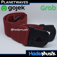 Strap Planet Lock Daddario Planet Waves Gitar dan Bass Warna Merah