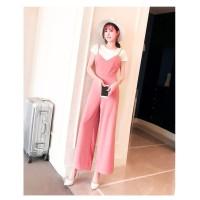 Korean Long Jumpsuit 950 Fashion Wanita Dress Terusan Overall