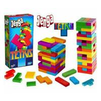 Mainan Jenga Tetris Stacko Buildings Blocks 2002