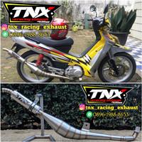 Knalpot F1ZR Kolong Samping Stainless TNX Racing not ahm yypang cld