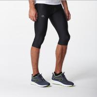 Run dry men's running cropped pants black celana jogging kalenji