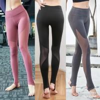 celana legging sport mesh transparan olahrag gym fitness wanita C109