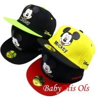 Mickey Kids Snapback Hat Topi Anak Boy and Girl Baseball Casual